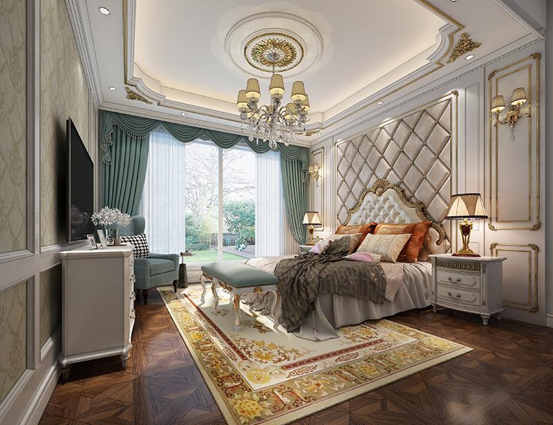 东源丽晶 别墅装修 现代风格 腾龙设计 卧室图片来自腾龙设计在东源丽晶520平别墅现代风格设计的分享