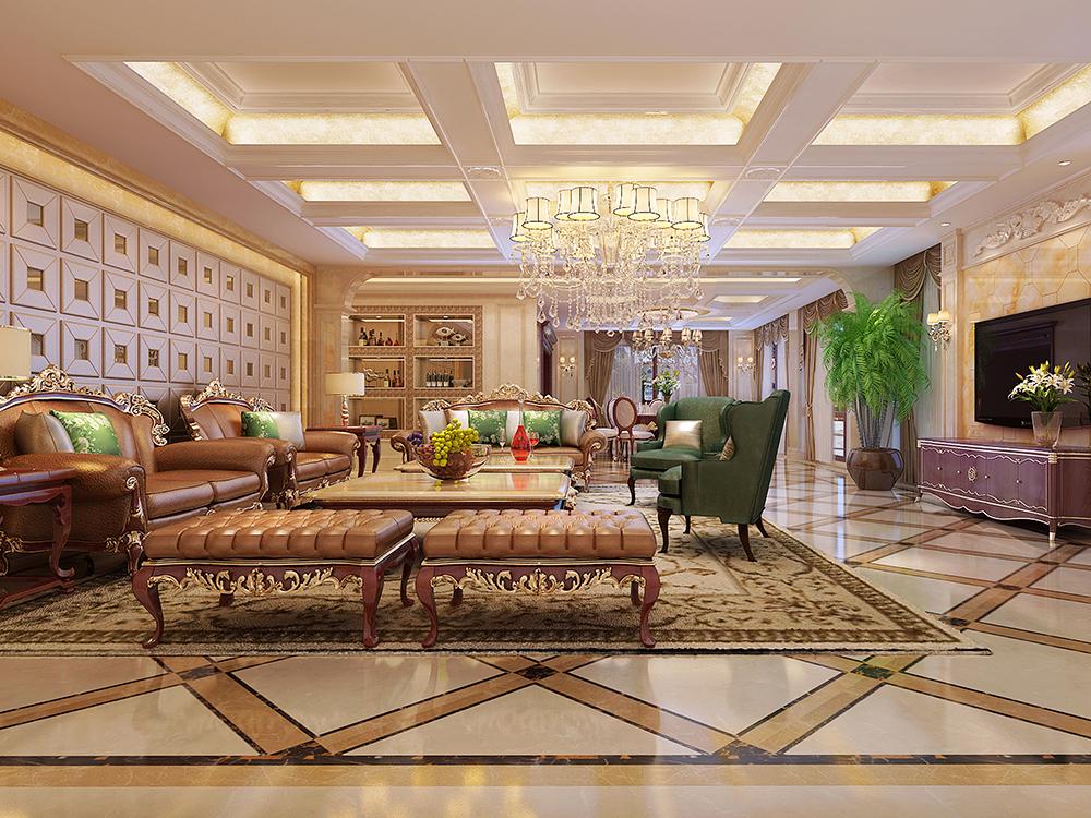 别墅装修 欧式古典风 腾龙设计 崇明岛农场 农场别墅 客厅图片来自腾龙设计在崇明岛农场别墅700平新古典设计的分享