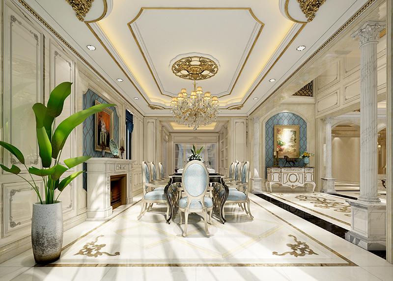 东源丽晶 别墅装修 现代风格 腾龙设计 餐厅图片来自腾龙设计在东源丽晶520平别墅现代风格设计的分享
