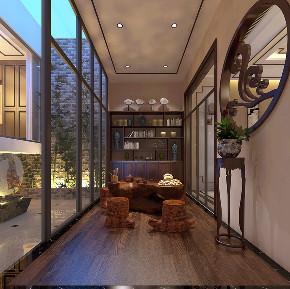 别墅 三居 小资 二居 田园 欧式 简约 阳台图片来自装家美在太原保利香槟国际187平米中式风的分享