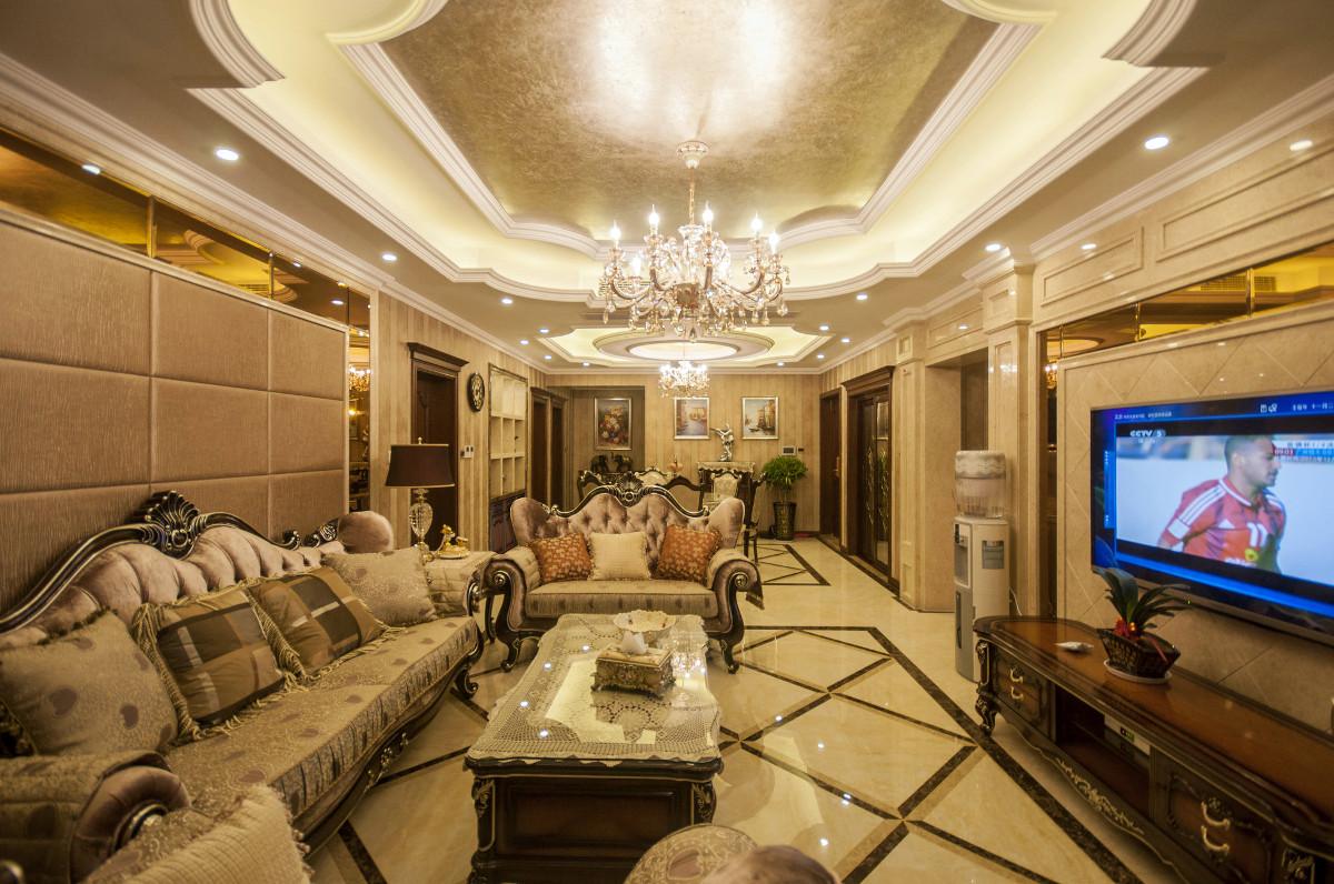尚海湾豪庭大平层项目装修欧式古典风格设计,上海腾龙别墅设计作品,欢迎品鉴