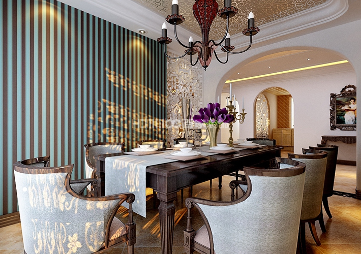 三居 绿城全运村 美式 餐厅图片来自百家装饰LL在绿城全运村158的分享