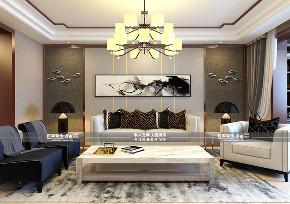 三居 金地悦峰 中式 客厅图片来自百家装饰LL在金地悦峰的分享