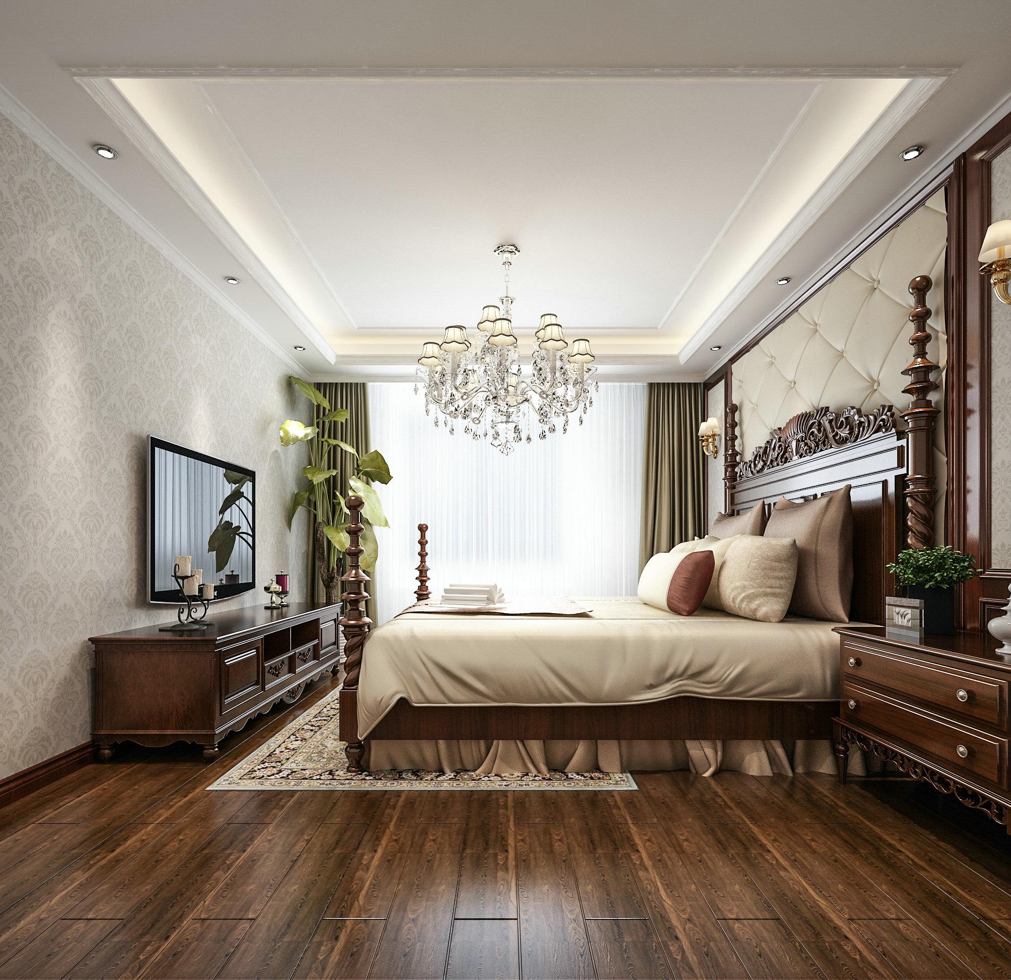 万科提香 别墅装修 欧式古典 腾龙设计 卧室图片来自孔继民在万科提香别墅项目装修欧式古典的分享