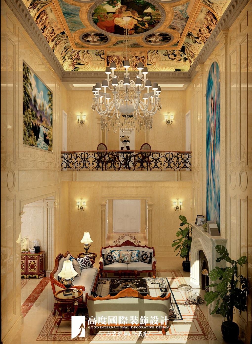 客厅图片来自北京高度国际在格拉斯小镇奢华欧式风格美美的的分享