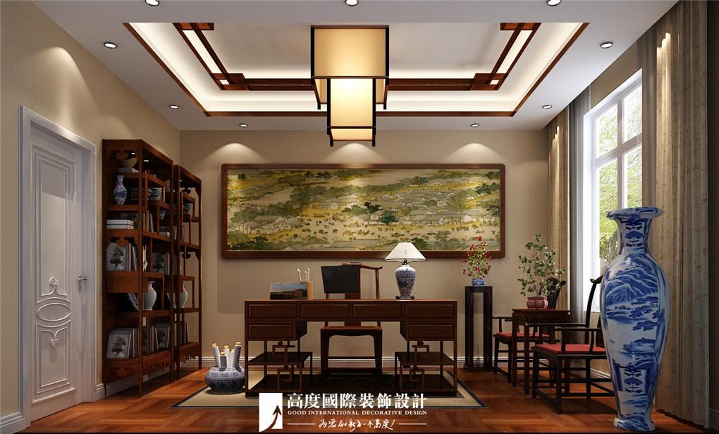 书房图片来自北京高度国际在格拉斯小镇奢华欧式风格美美的的分享