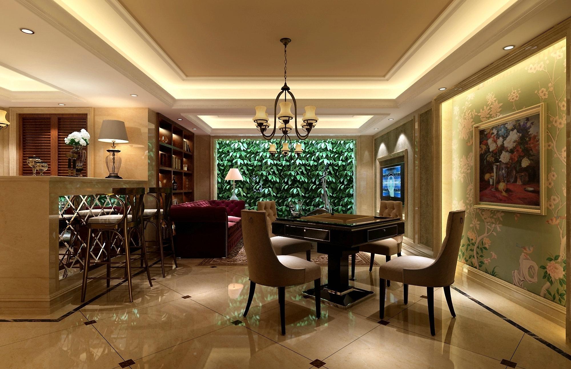 东方豪园 别墅装修 欧美风格 腾龙设计 餐厅图片来自孔继民在东方豪园独栋别墅项目装修欧美风的分享