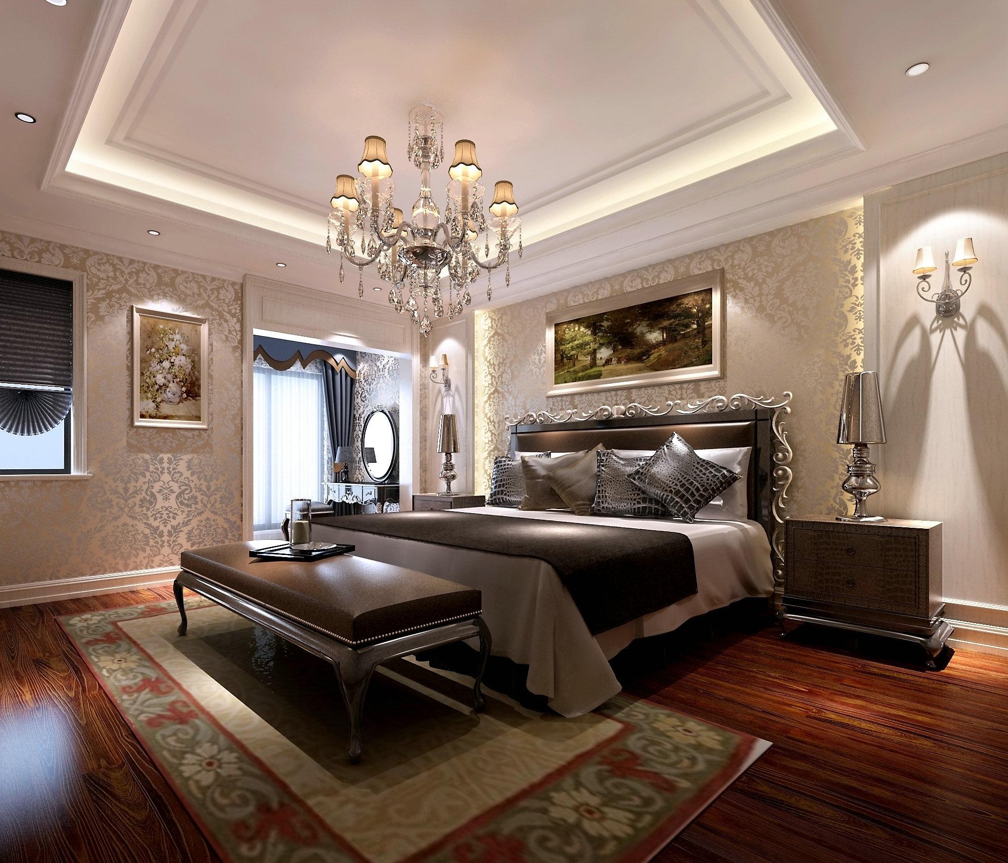 东方豪园 别墅装修 欧美风格 腾龙设计 卧室图片来自孔继民在东方豪园独栋别墅项目装修欧美风的分享