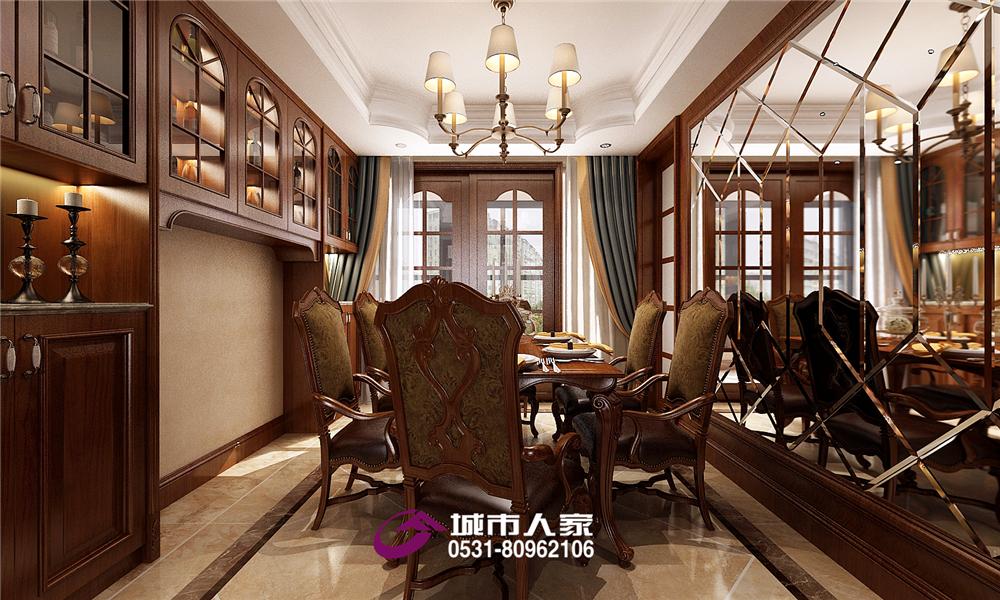 简约 餐厅图片来自济南城市人家装修公司-在凯旋新城装修现代美式效果图的分享