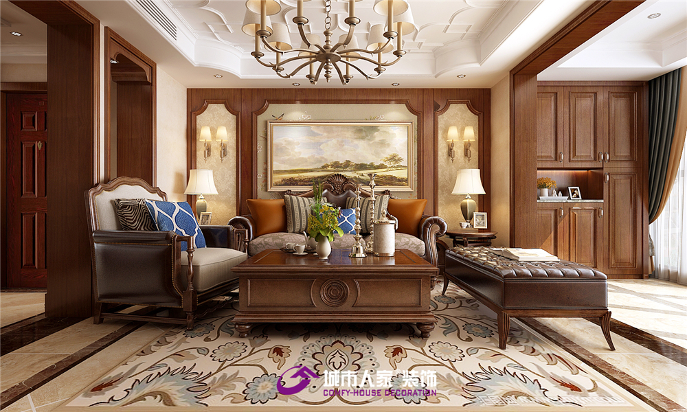 简约 客厅图片来自济南城市人家装修公司-在凯旋新城装修现代美式效果图的分享