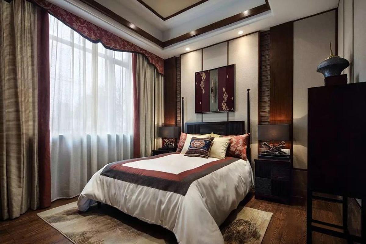 汤臣高尔夫别墅项目装修东南亚风格设计,上海腾龙别墅设计作品,欢迎品鉴