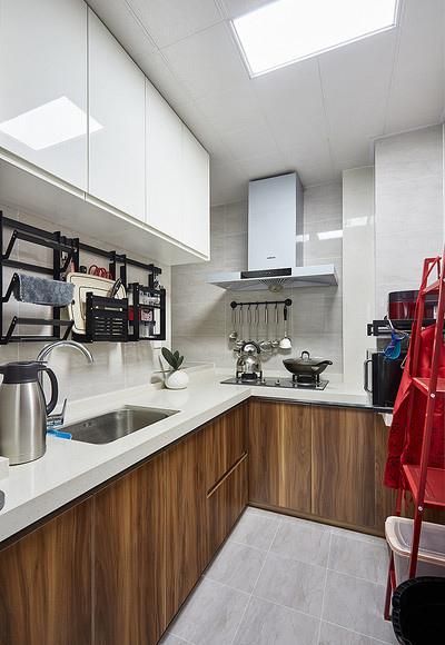厨房图片来自家装大管家在78平北欧极简居 色调清雅大方的分享