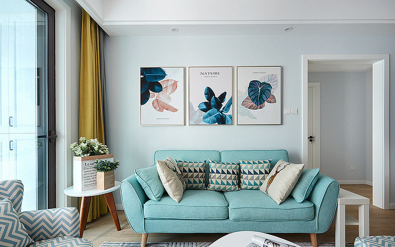 客厅图片来自家装大管家在78平北欧极简居 色调清雅大方的分享