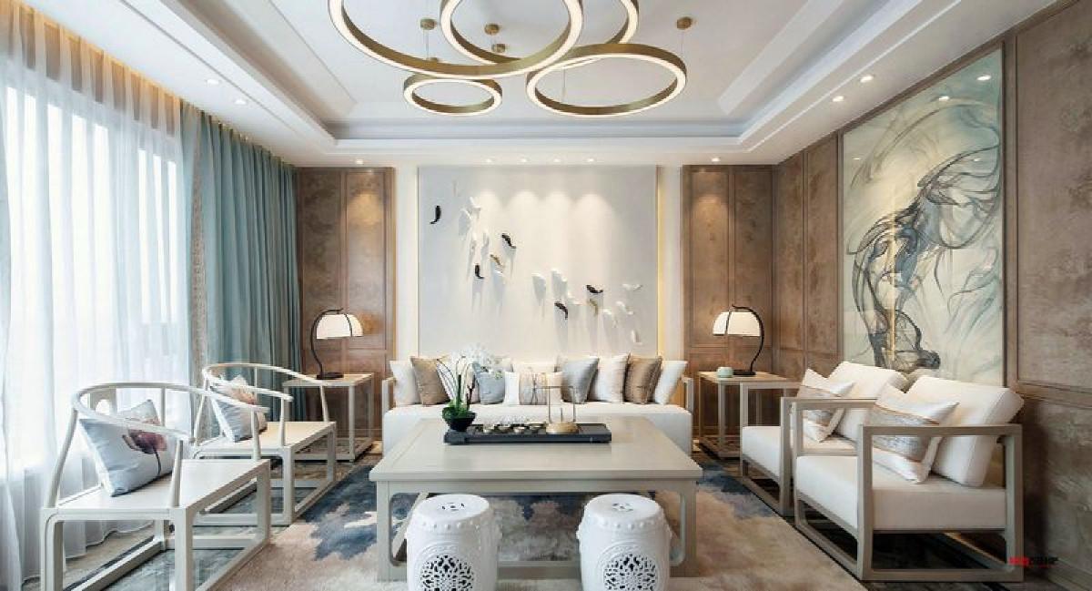 世茂滨江花园别墅项目装修轻奢主义风格设计,上海腾龙别墅设计作品,欢迎品鉴