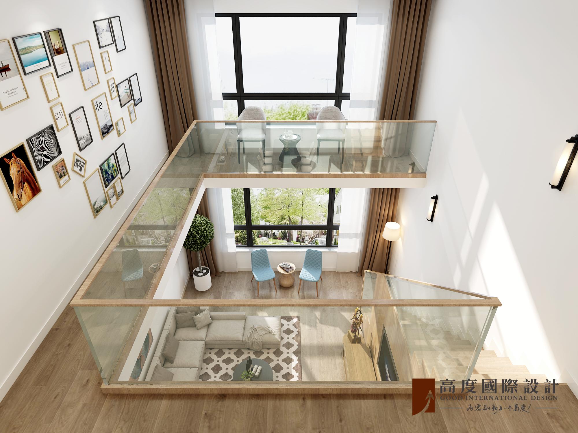 北欧别墅跃层复式大户型80后小资楼梯图片
