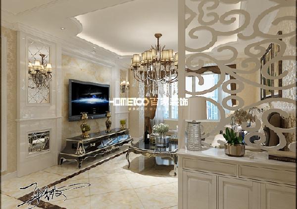 空间宽敞,柔和自然光线透入,欧式的线条配搭相得益彰的家具,