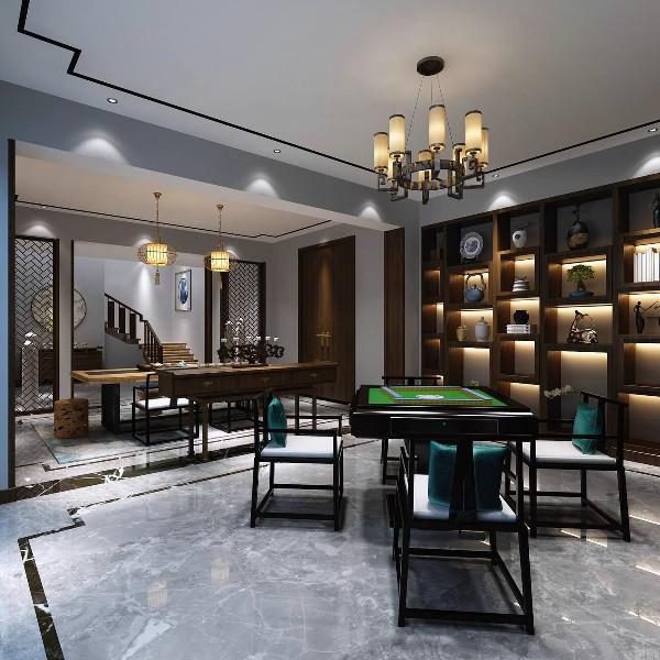 青浦古涧堂别墅项目装修新中式风格设计参考案例展示, 上海腾龙别墅设计师叶剑平作品,欢迎品鉴
