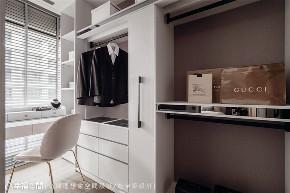 小资 现代风格 装修设计 二居 白领 衣帽间图片来自幸福空间在79平,几何线条,建构个性化场域的分享