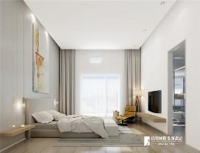 北欧 别墅 复式 跃层 大户型 80后 小资 旧房改造 卧室图片来自高度国际姚吉智在国奥村200平米北欧极简生活情怀的分享