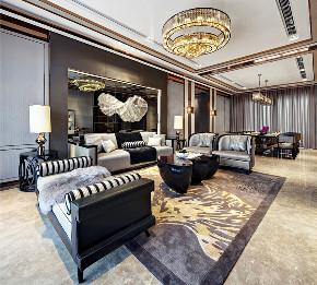 新古典 别墅 复式 跃层 大户型 80后 小资 客厅图片来自高度国际姚吉智在235平米古典时间积淀的怀旧韵味的分享