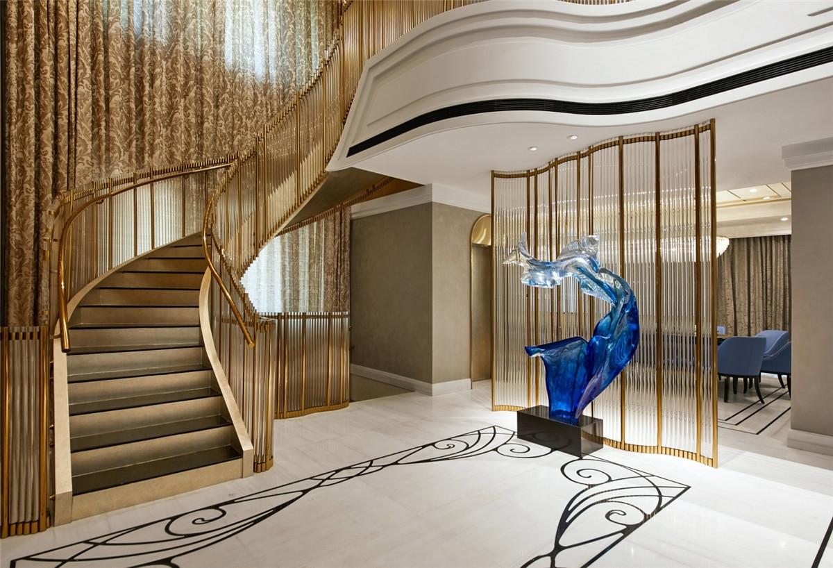 湖山在望花园别墅项目装修现代风格设计方案展示,上海腾龙别墅设计作品,欢迎品鉴
