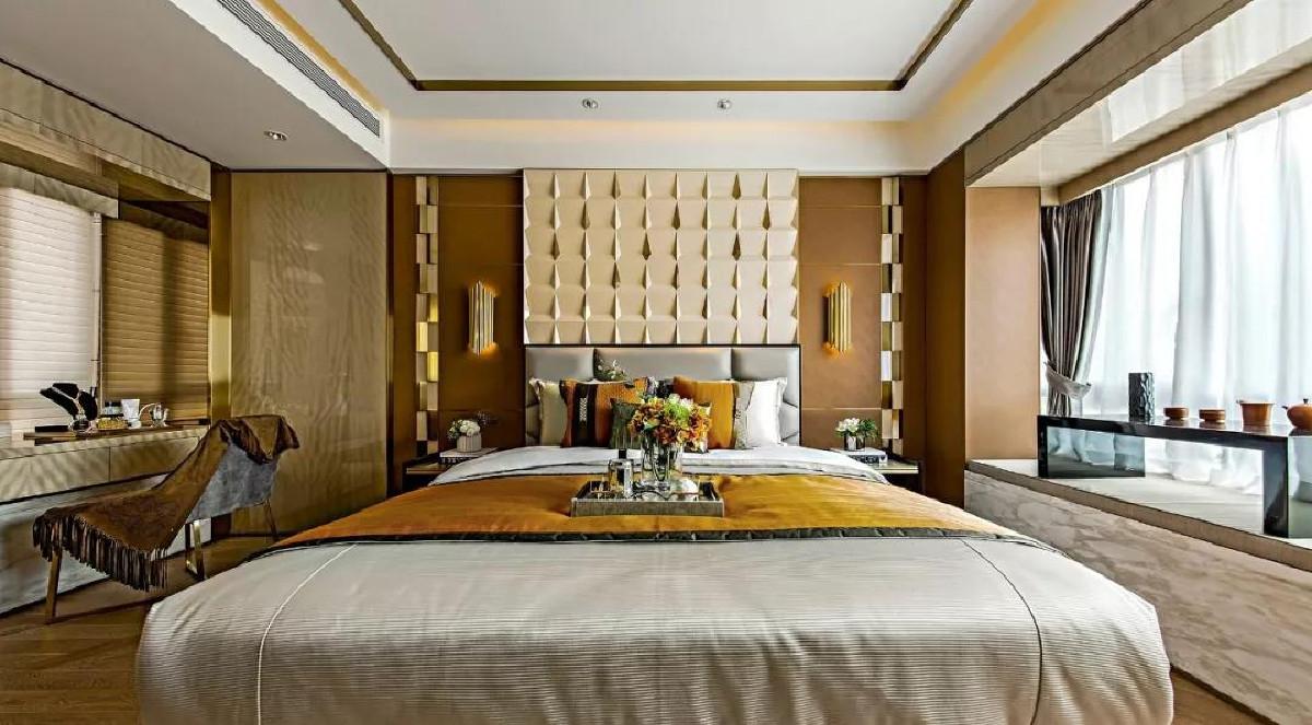 天山九峰290㎡现代奢华风格卧室效果图
