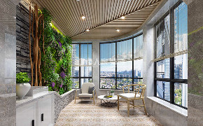 现代风格 80后 小资 婚房 西安装修 阳台图片来自西安城市人家装饰王凯在阅静好岁月,优雅自成一派!的分享