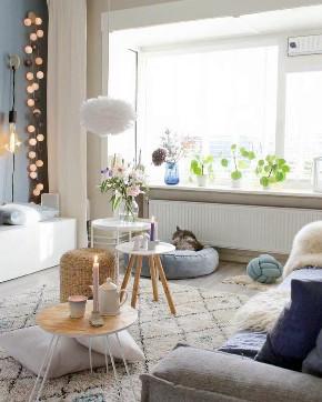 北欧 青岛 装修 清新 旧房改造 小资 80后 客厅图片来自快乐彩在欧倾听内心的静谧85平老房改造的分享
