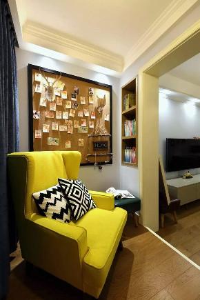 混搭 北欧 客厅图片来自优家馆装饰官网在89㎡北欧混搭,实用与时尚的结合的分享