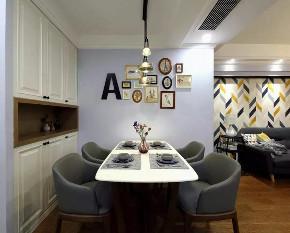 混搭 北欧 餐厅图片来自优家馆装饰官网在89㎡北欧混搭,实用与时尚的结合的分享