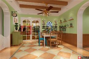 三居 田园 小美式 餐厅图片来自星艺装饰贵阳装修公司在美的国宾府的分享