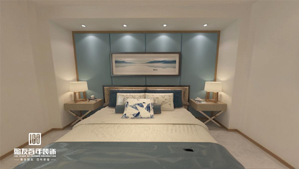 不同空高与墙面设计, 拉长卧室视觉效果同时, 又将单调的卧室变得格外灵动随性。