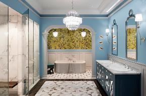 英庭名墅 别墅装修 欧美风格 腾龙设计 卫生间图片来自周峻在英庭名墅别墅完工实景展示的分享