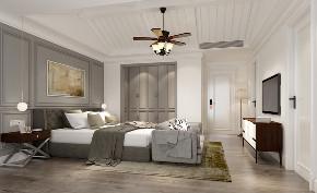 简约 混搭 别墅 白领 收纳 旧房改造 卧室图片来自林上淮·圣奇凯尚装饰在混搭风别墅-上城郡林上淮的分享