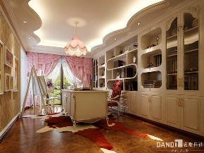 别墅 混搭 书房图片来自名雕丹迪在燕晗山居-混搭风格-叠墅-500平的分享