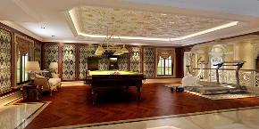 别墅装修 欧式古典 腾龙设计 郭建作品 书房图片来自周峻在1300平别墅装修欧式古典风格设计的分享