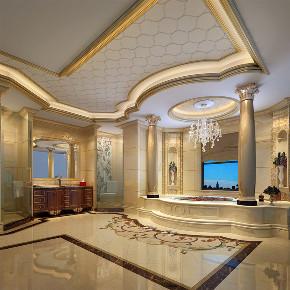 别墅装修 欧式古典 腾龙设计 郭建作品 卫生间图片来自周峻在1300平别墅装修欧式古典风格设计的分享