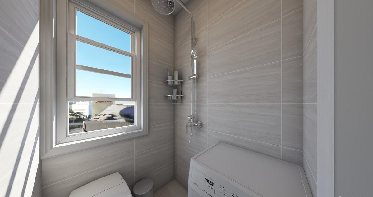 卫生间面积比较小,做了干湿分离的处理。能够满足使用功能的要求。