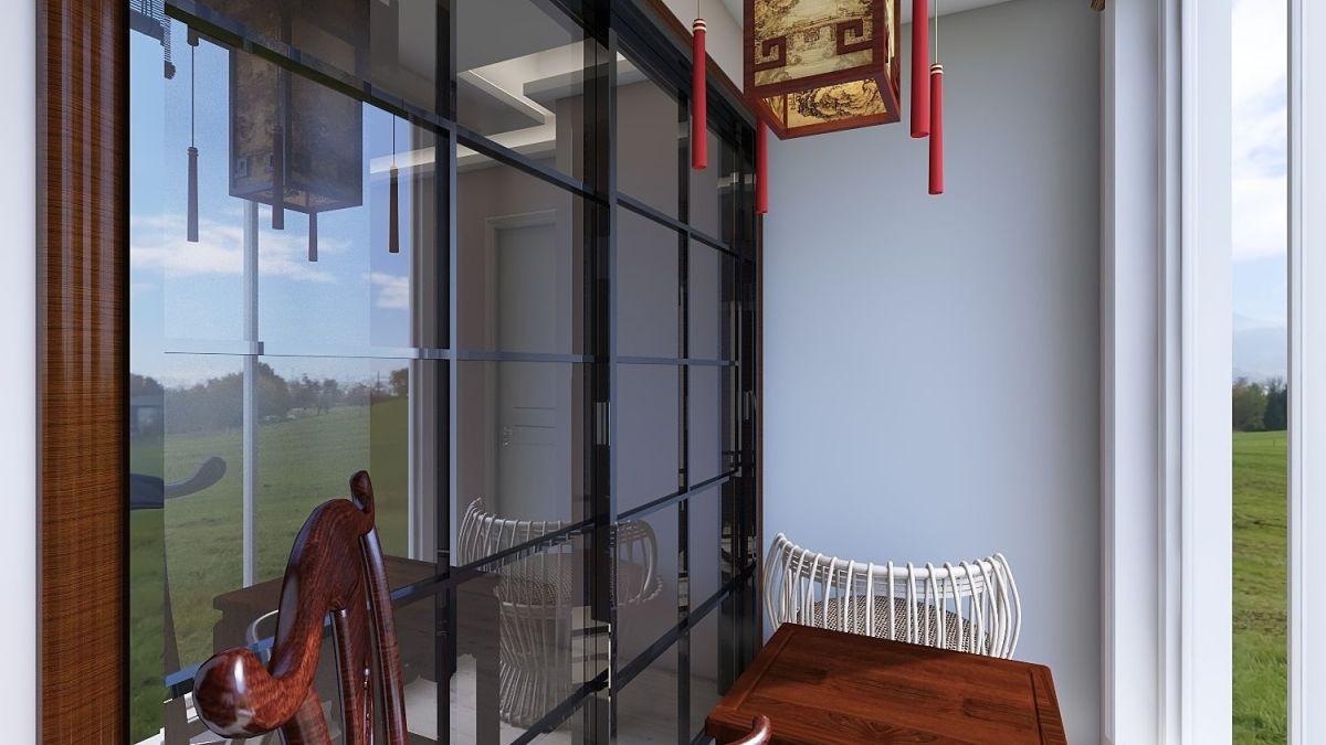 卧室阳台作为休闲阳台使用,既满足阳台的功能,又兼阅读功能。