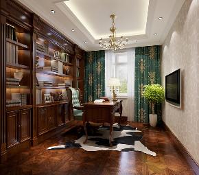 书房图片来自北京高度国际在剑桥郡孔雀城---500平米简欧风格的分享