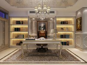 红醍半岛 别墅装修 新古典风格 别墅设计师 书房图片来自周峻在红醍半岛别墅项目装修设计案例的分享