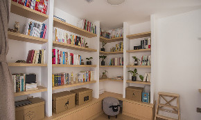 书房图片来自家装大管家在89平北欧时尚空间 年轻人的风格的分享