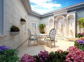 东郊罗兰 别墅装修 欧式古典 别墅设计师 阳台图片来自周峻在东郊罗兰/东方别墅项目装修设计的分享