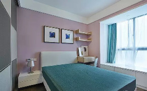 今朝装饰 西安装修 卧室图片来自西安今朝装饰小何在首创国际城110平现代简约风格的分享