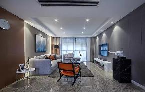 今朝装饰 西安装修 客厅图片来自西安今朝装饰小何在首创国际城110平现代简约风格的分享