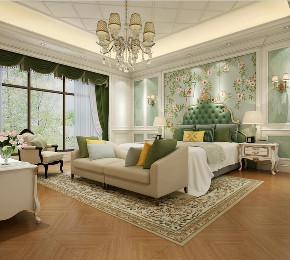 东郊罗兰 别墅装修 欧式古典 别墅设计师 卧室图片来自周峻在东郊罗兰/东方别墅项目装修设计的分享