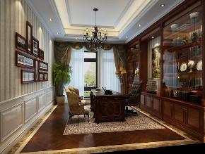 昆玉九里 别墅装修 欧式古典 别墅设计师 书房图片来自周峻在昆玉九里别墅欧式古典风格设计的分享