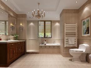 维诗凯亚别 别墅装修 美式风格 别墅设计师 卫生间图片来自周峻在维诗凯亚400平别墅美式风格设计的分享