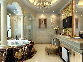 皇都花园 别墅装修 法式古典 别墅设计师 卫生间图片来自周峻在皇都花园350平别墅古典法式风格的分享