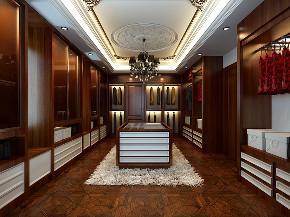 皇都花园 别墅装修 法式古典 别墅设计师 衣帽间图片来自孔继民在皇都花园350平别墅古典法式风格的分享